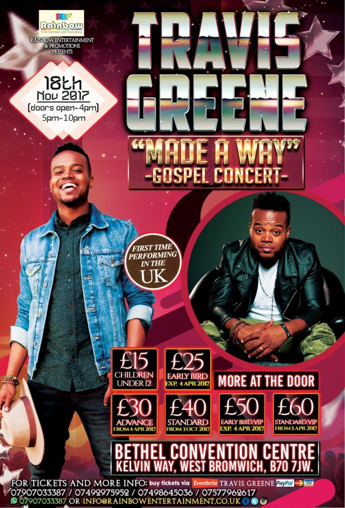 TRAVIS GREENE -MADE A WAY- GOSPEL CONCERT LIVE IN ENGLAND - UK | Blacknet UK