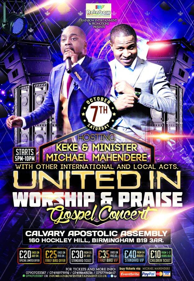 United in Worship and Praise Gospel Concert - Feat Min M Mahendere & Prophet Keke | Blacknet UK