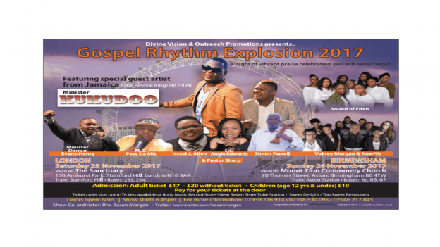 Gospel Rhythm Explosion 2017 | Blacknet UK