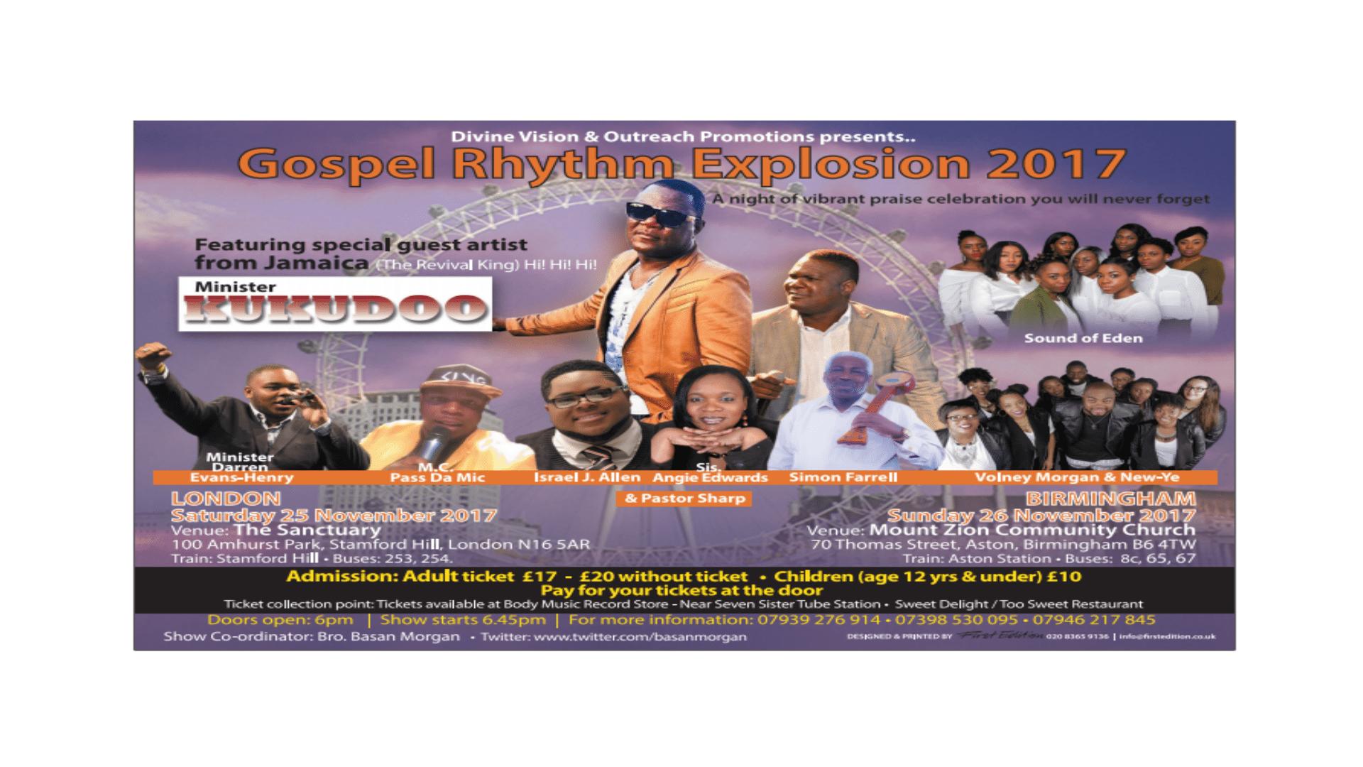 Gospel Rhythm Explosion 2017 | Blacknet UK