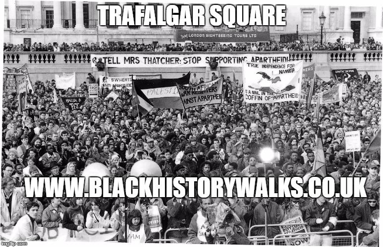 Trafalgar Square Black History walk | Blacknet UK