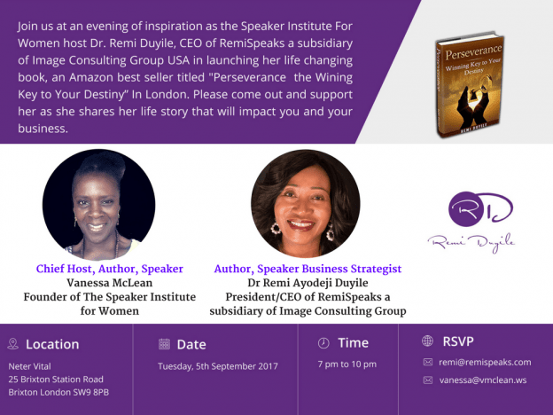 Black Sisters With A Vision Presents an Evening With Remi Duyile | Blacknet UK