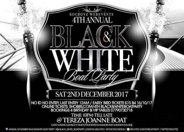 Black&White BoatParty | Blacknet UK