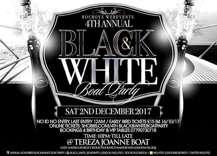 Black&White BoatParty   Blacknet UK