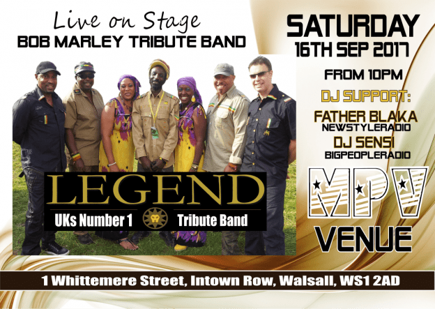 Legends Bob Marley Tribute Band | Blacknet UK