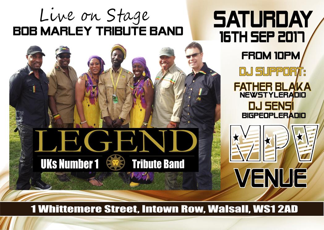 Legends Bob Marley Tribute Band   Blacknet UK