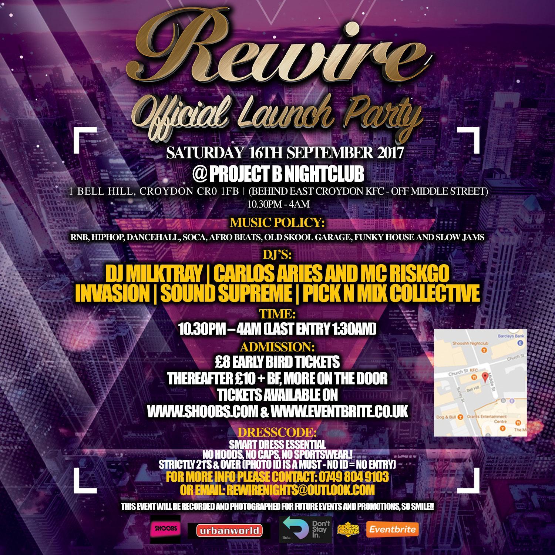Rewire - Official Launch Party   Blacknet UK