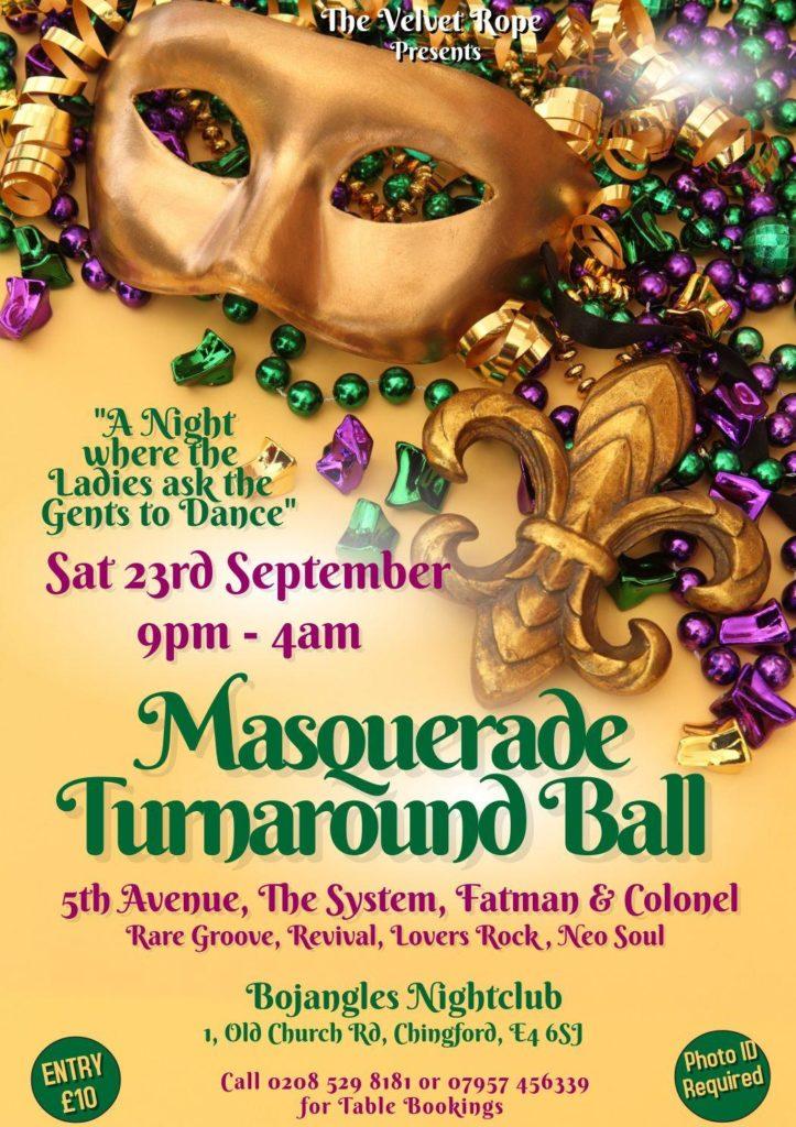 Bojangles Masquerade Turnaround Party | Blacknet UK