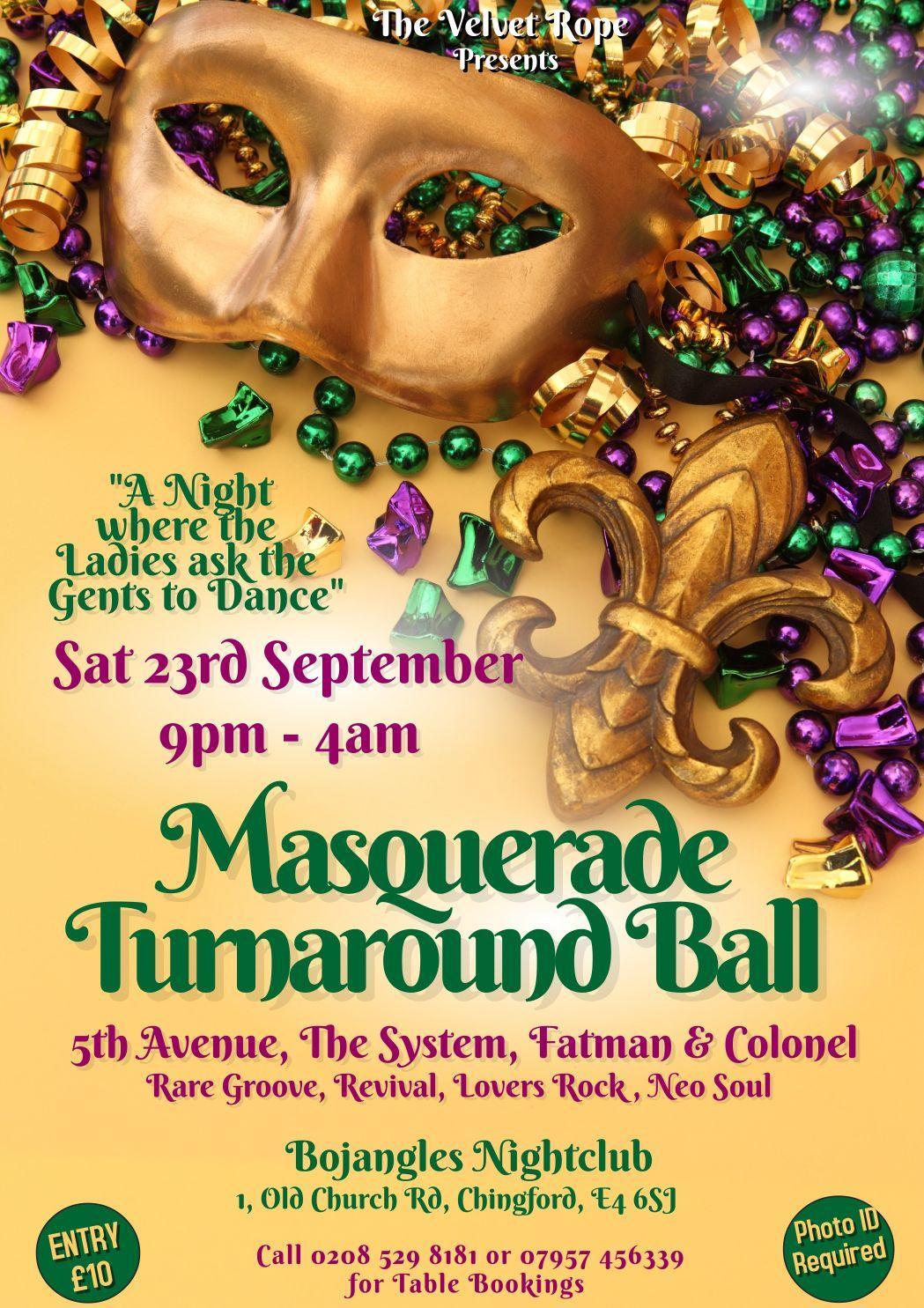 Bojangles Masquerade Turnaround Party   Blacknet UK