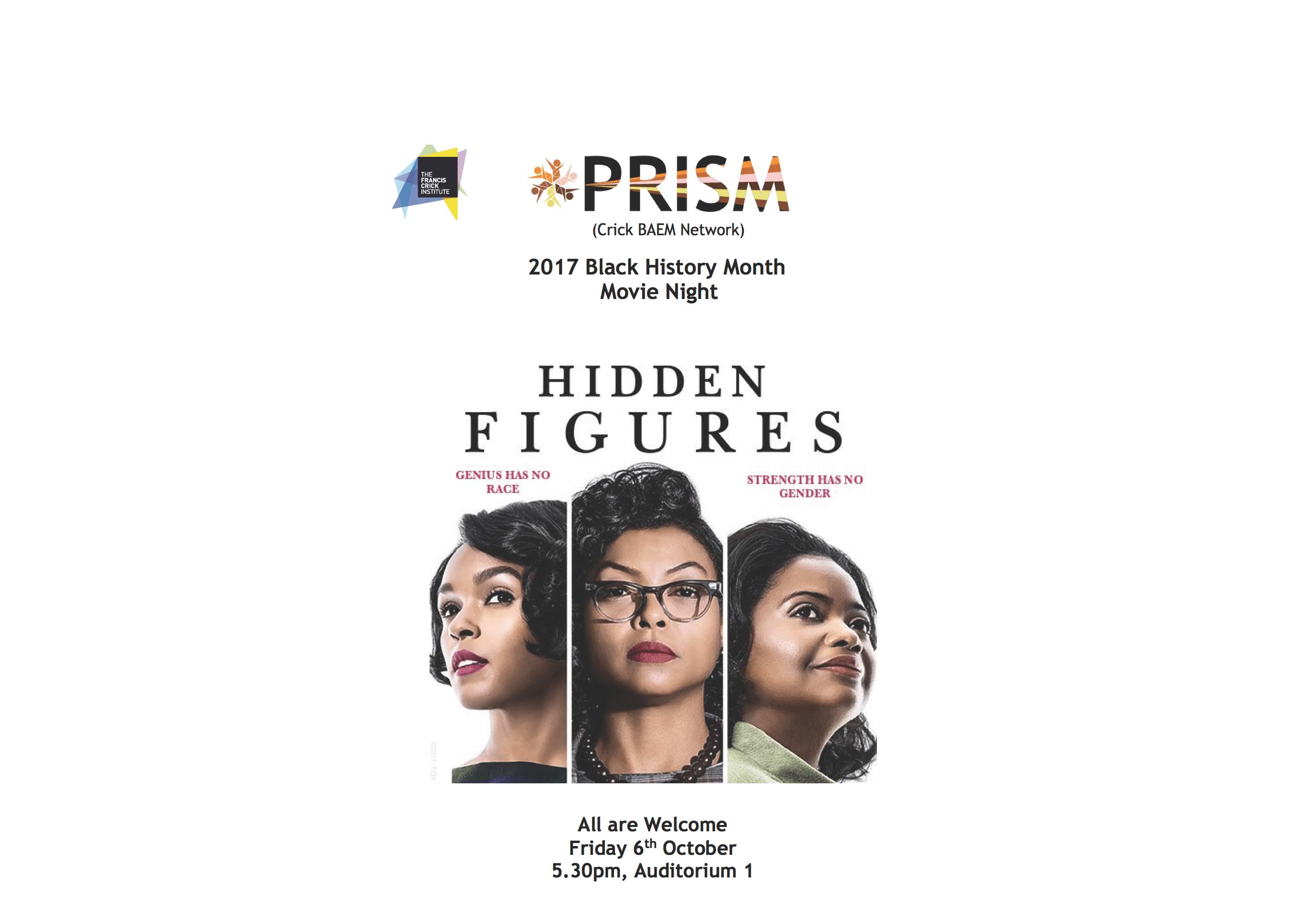 PRISM - Hidden Figures Movie Screening | Blacknet UK