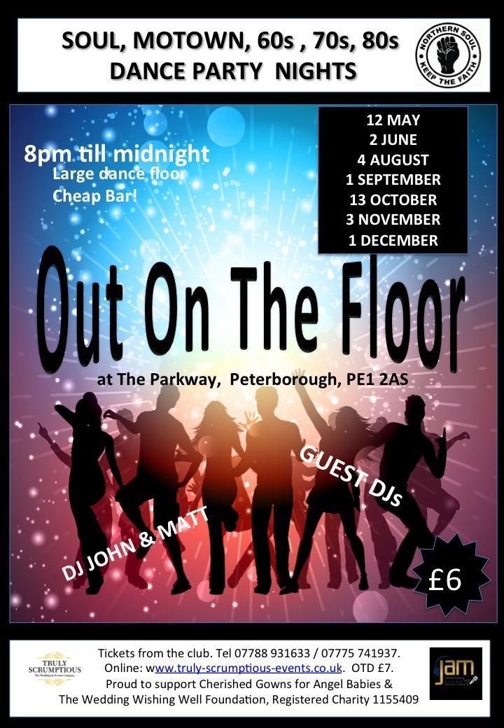 Out On The Floor Soul, Motown, 60s, 70s Dance Party | Blacknet UK