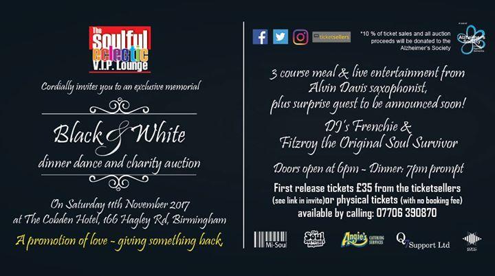 V.I.P Lounge Black & White Special Charity Dinner & Dance | Blacknet UK