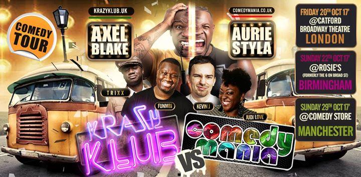Krazy Klub VS ComedyMania UK Tour - Manchester 29.10.17 | Blacknet UK