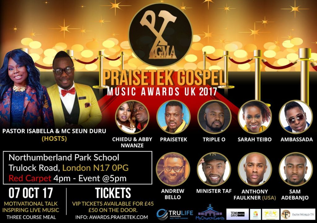 PRAISETEK GOSPEL MUSIC AWARDS (PGMA) 2017 | Blacknet UK