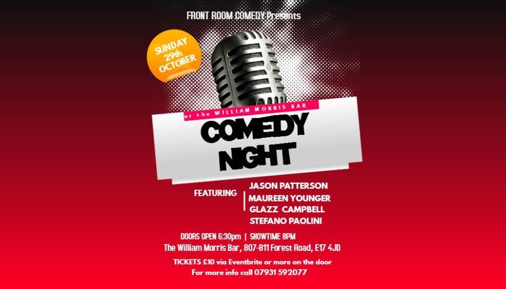 Comedy Night at the William Morris Bar- Black History Month | Blacknet UK