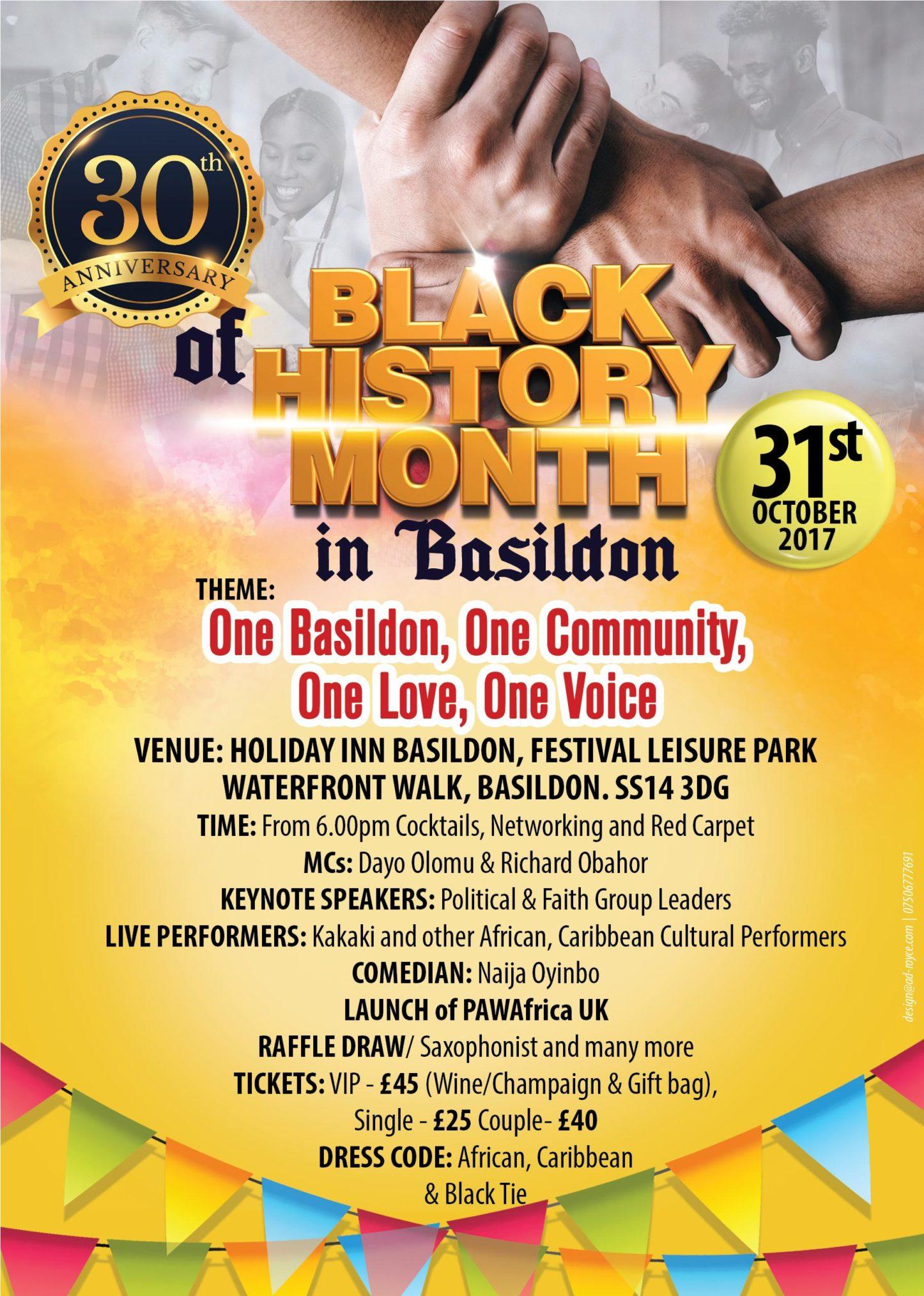 30th Anniversary of Black History Month Celebrations in Basildon | Blacknet UK