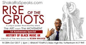 Rise of the Griots: Black Music UK feat Robin Walker Book Lanuch   Blacknet UK