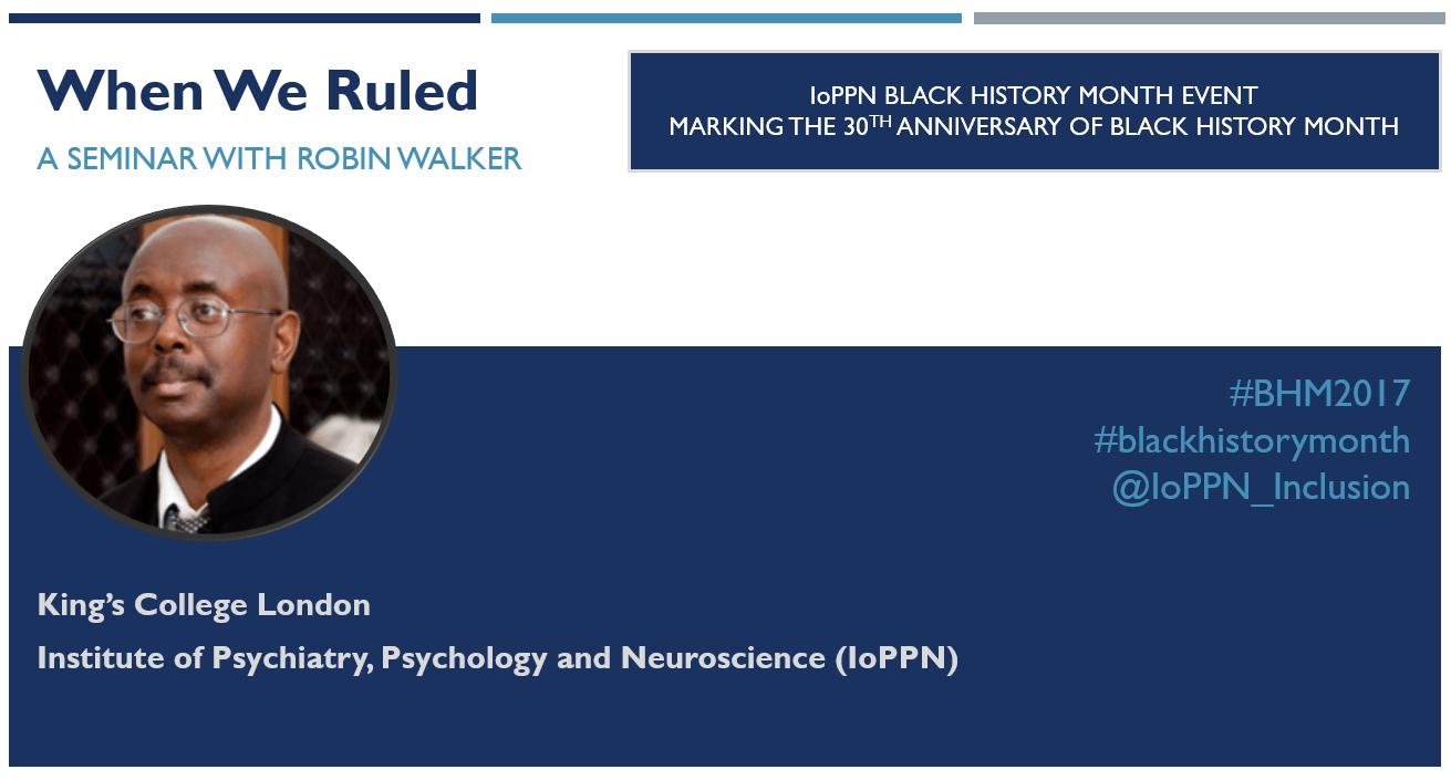 When We Ruled: a seminar with Robin Walker | Blacknet UK