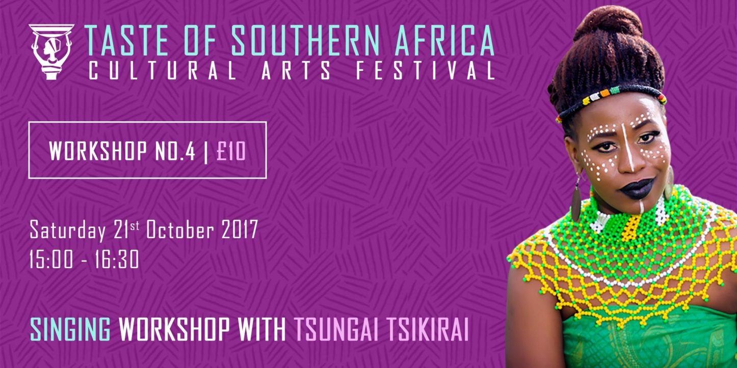 African Singing Workshop with Tsungai Tsikirai - Taste of Southern Africa | Blacknet UK