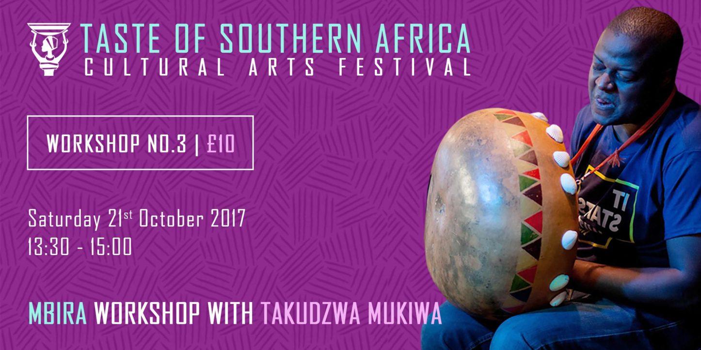 African Mbira Workshop with Takudzwa Mukiwa - Taste of Southern Africa | Blacknet UK