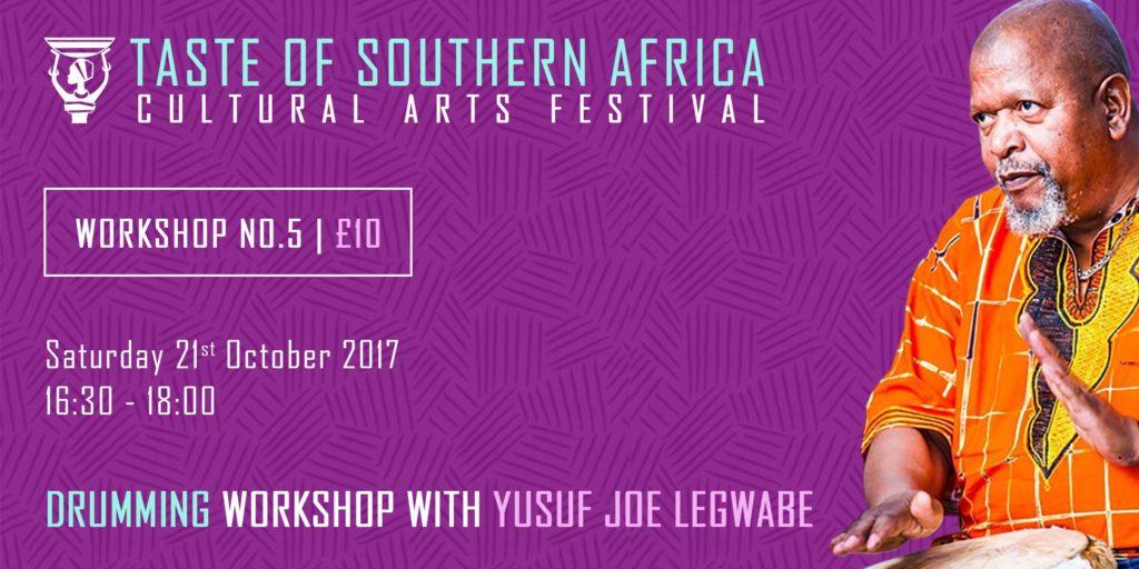 African Drumming Workshop with Yusuf Joe Legwabe - Taste of Southern Africa | Blacknet UK