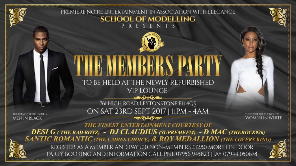 Premiere Noire Entertainment 'Members Party' | Blacknet UK