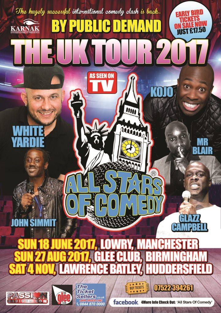 All Stars Of Comedy KOJO & White Yardie 2017 UK Tour | Blacknet UK