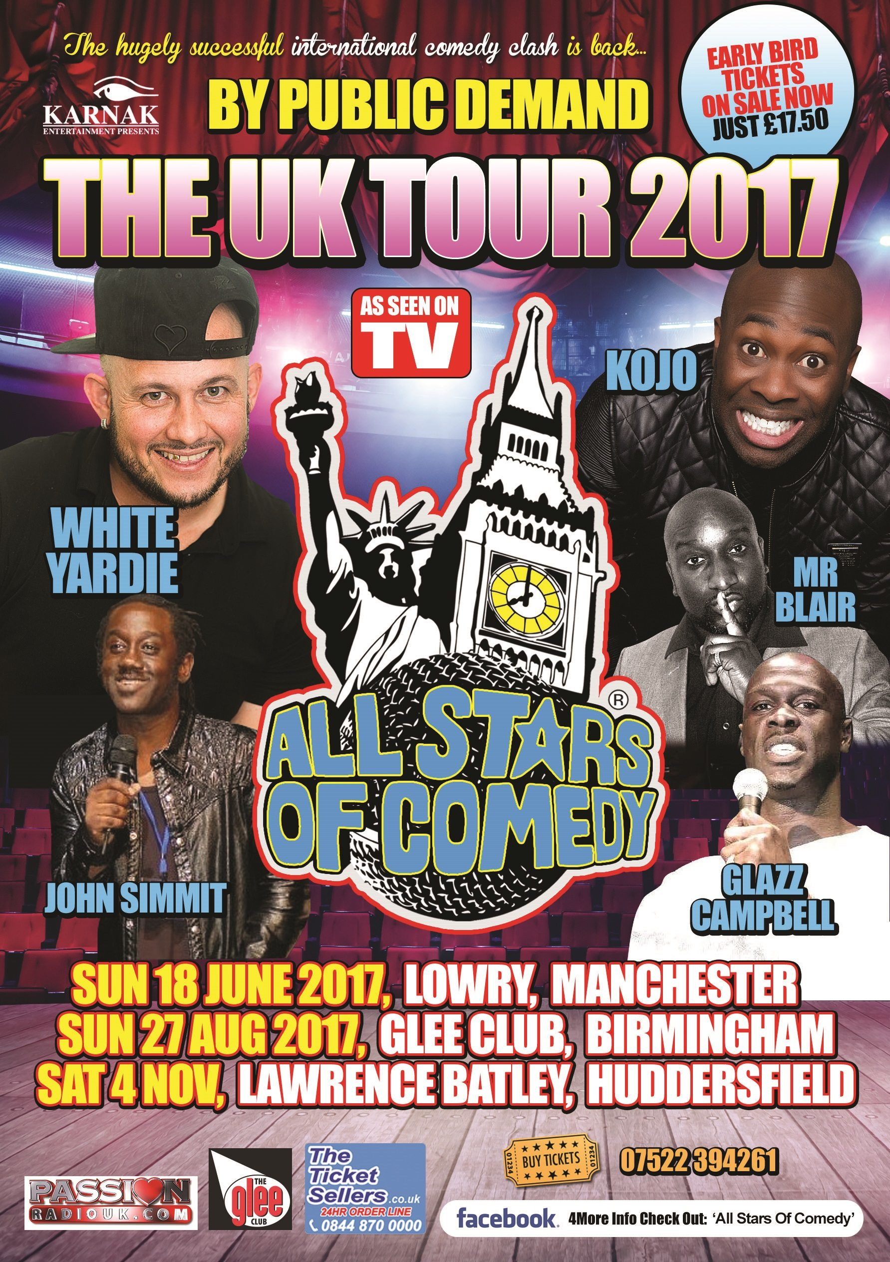 All Stars Of Comedy KOJO & White Yardie 2017 UK Tour | Blacknet UK
