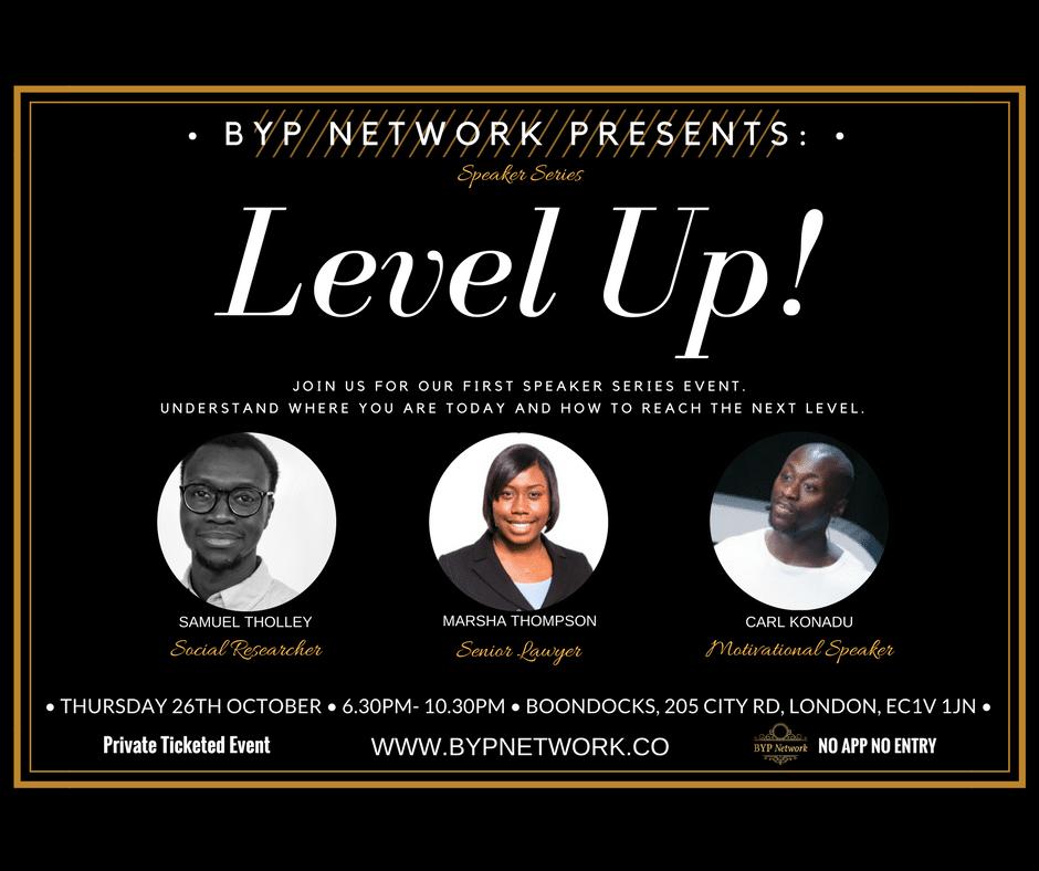 BYP Network Speaker Series: Level Up | Blacknet UK