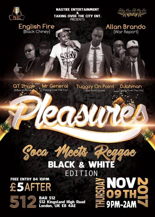 PLEASURES Soca Meets Reggae ft DJ English Fire & Allan Brando (Black & White Edition) | Blacknet UK