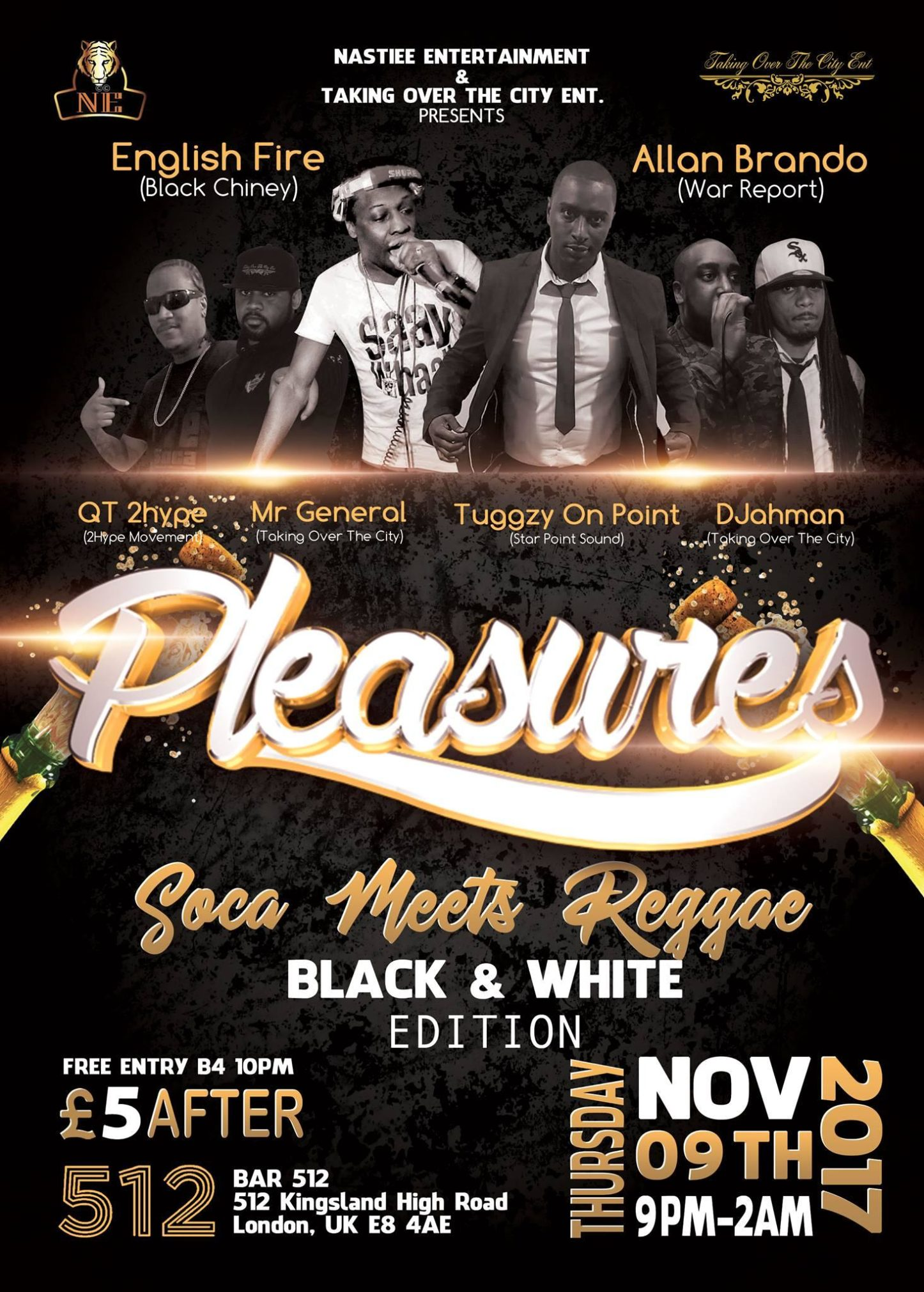 PLEASURES Soca Meets Reggae ft DJ English Fire & Allan Brando (Black & White Edition) | Blacknet UK