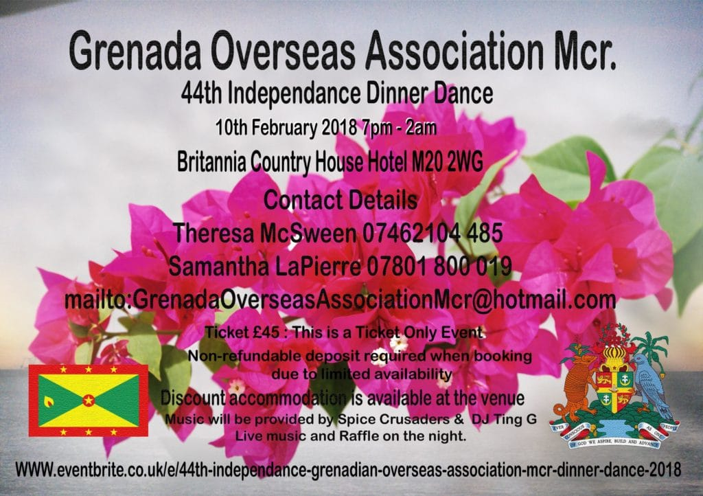 44th Independence Grenadian Overseas Association Mcr Dinner Dance 2018 | Blacknet UK