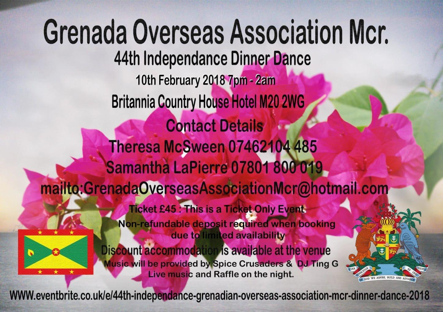44th Independence Grenadian Overseas Association Mcr Dinner Dance 2018 | Blacknet UK