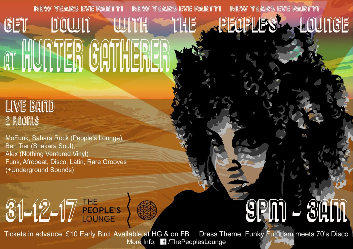 New Years Eve Party - Get Down with The People's Lounge   Blacknet UK