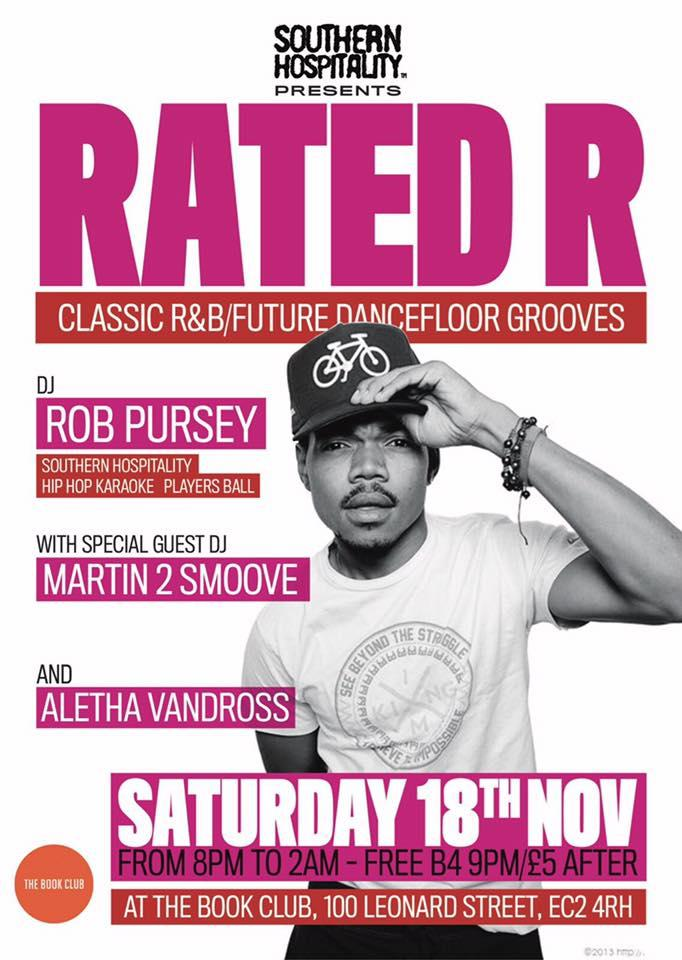 Rated R - Classic R&B/Future Jams - DJs: Rob Pursey + Martin 2 Smoove | Blacknet UK