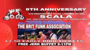 We Love Soul 8th Anniversary - Ft. The Brit Funk Association   Blacknet UK