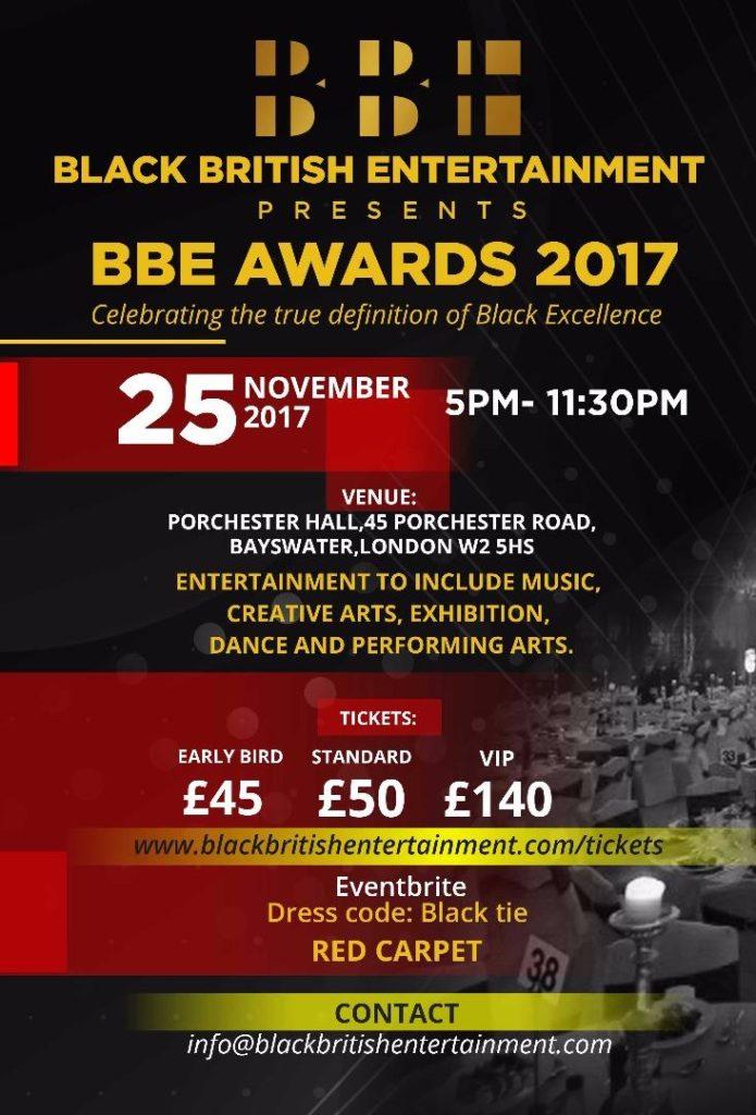 BLACK BRITISH ENTERTAINMENT AWARDS 2017 | Blacknet UK
