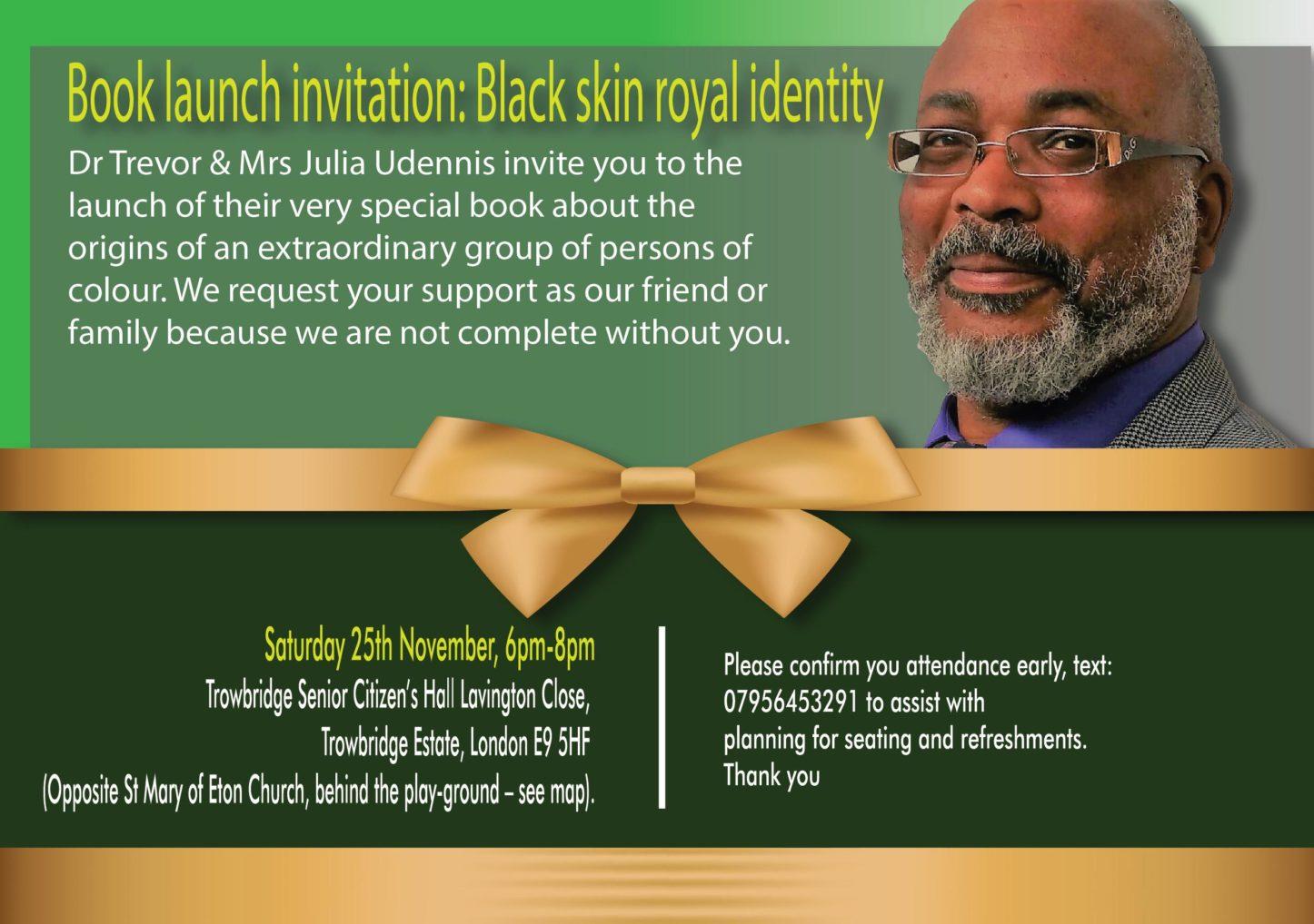 Book Launch Event - Black Skin Royal Identity   Blacknet UK