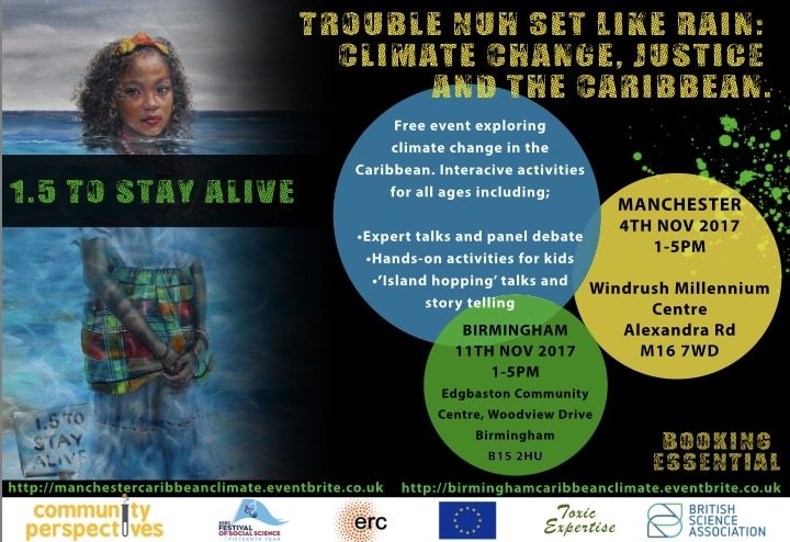 Trouble nuh set like Rain: climate change, justice and the Caribbean (Manchester) | Blacknet UK