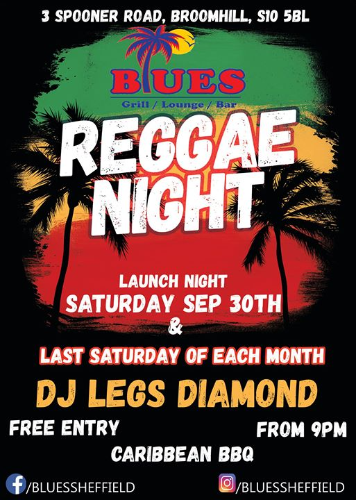 Reggae Night with Legs Diamond | Blacknet UK