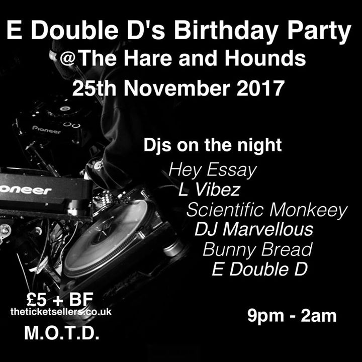 E Double D Birthday Party | Blacknet UK