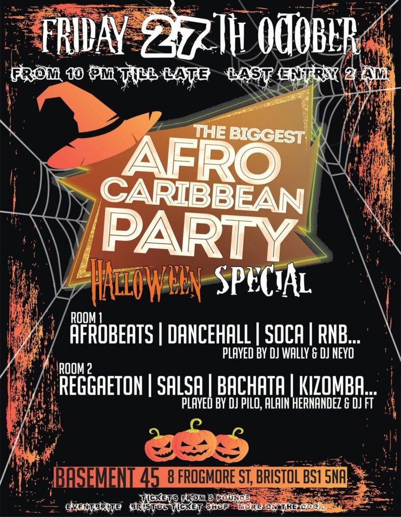 THE BIGGEST AFRO CARIBBEAN PARTY HALLOWEEN SPECIAL   Blacknet UK