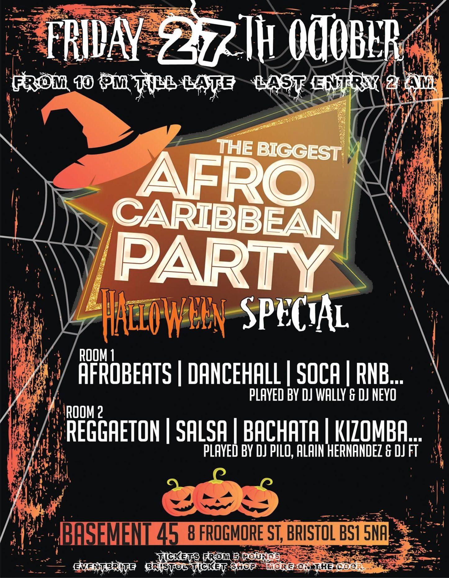 THE BIGGEST AFRO CARIBBEAN PARTY HALLOWEEN SPECIAL | Blacknet UK