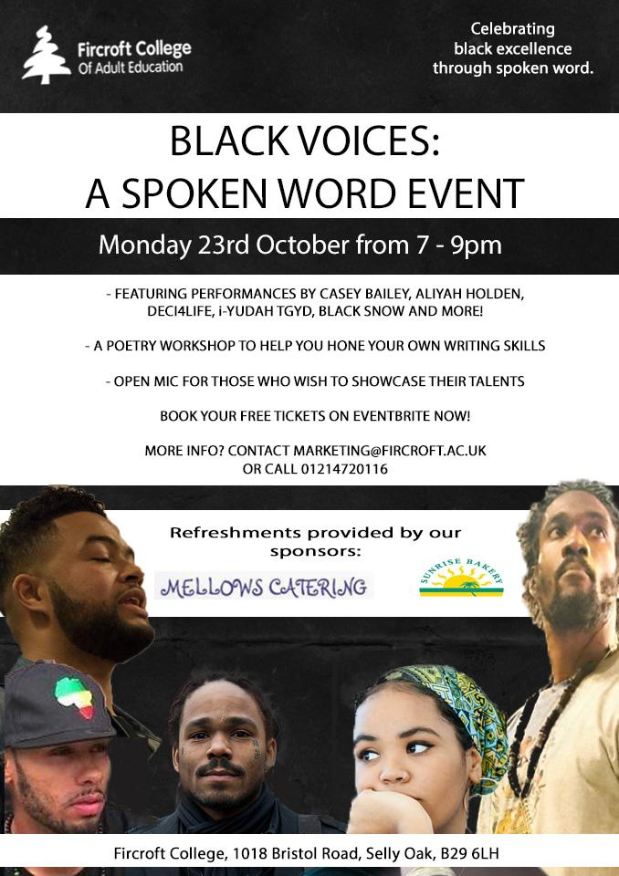 Black Voices - A Spoken Word Event | Blacknet UK