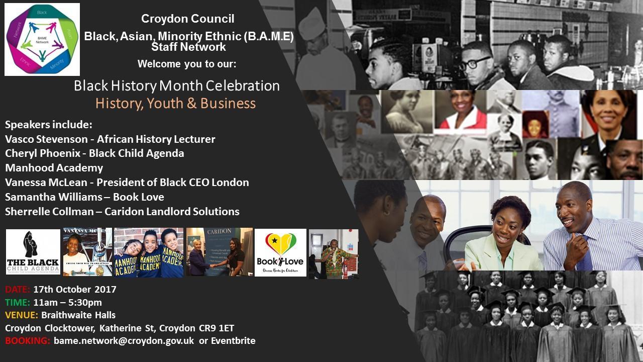 Croydon Council BAME Network: BHM Celebration - Public Event | Blacknet UK