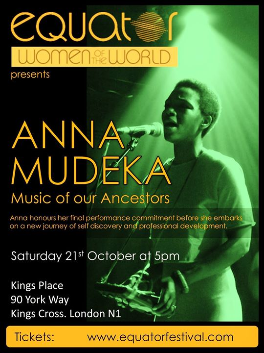 Anna Mudeka at Equator Festival/Women of The World/Kings Place | Blacknet UK