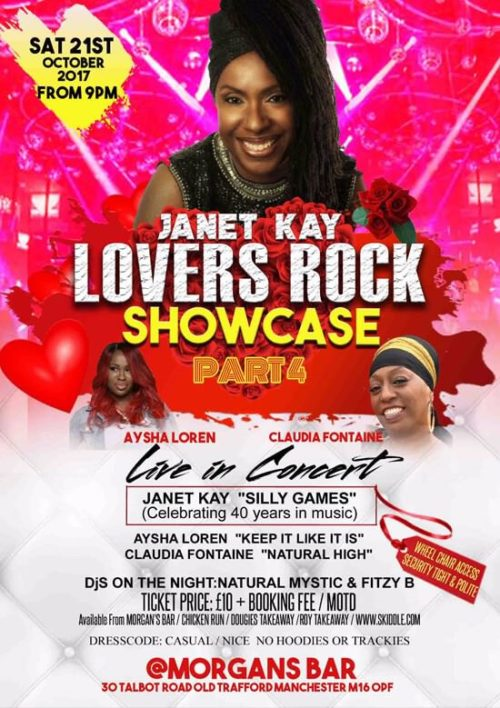 Janet Kay Lovers Rock Showcase Part 4 Manchester 21 Oct | Blacknet UK