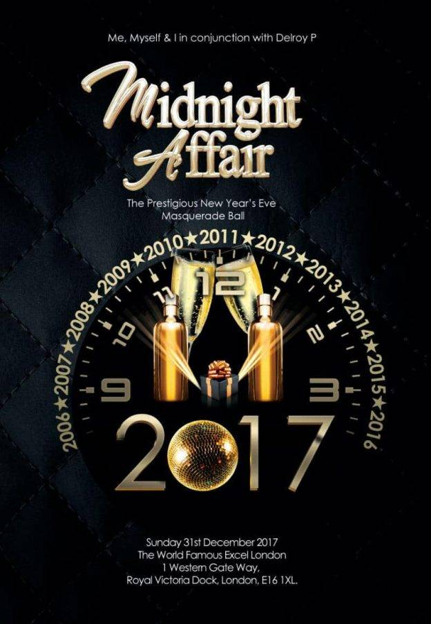 New Years Eve - The Midnight Affair Masquerade Ball 2017 | Blacknet UK