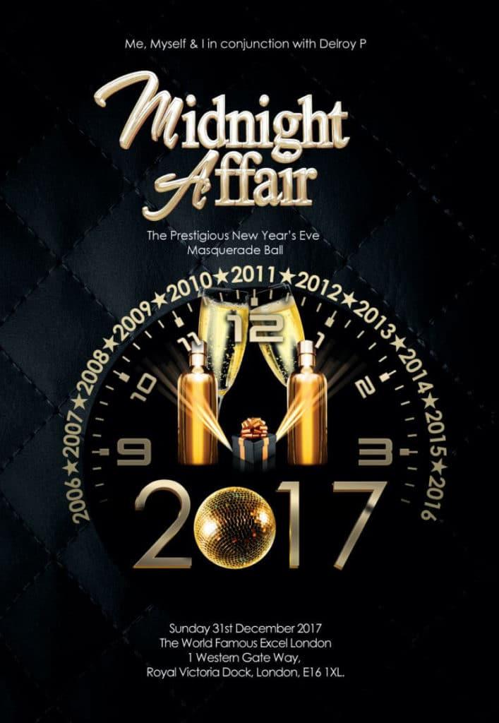 New Years Eve - The Midnight Affair Masquerade Ball 2017 | Blacknet UK