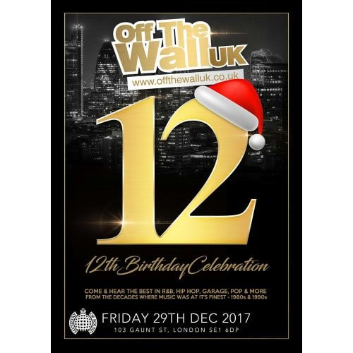 OFF THE WALL 12TH BIRTHDAY CELEBRATION | Blacknet UK